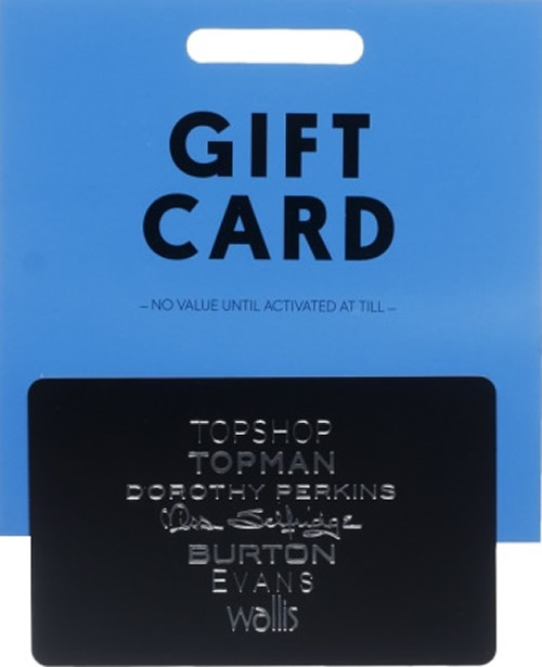 Please note that Arcadia gift cards can be loaded with a minimum value of £1 and a maximum value of £ redeemable in the UK, while gift cards for the Republic of Ireland can be loaded with a minimum Euro value of €1 and a maximum value of €