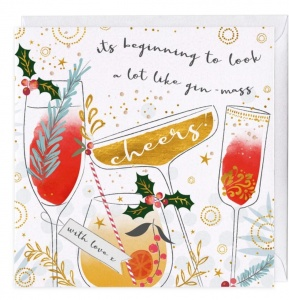 It's Beginning to look like Gin-Mass Christmas Card