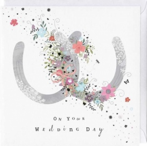 Horseshoes Wedding Card