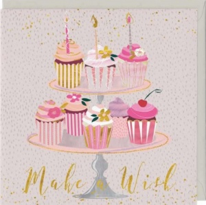 Make A Wish Cupcakes Birthday Card