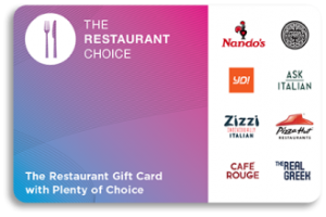 Restaurant Choice Gift Card