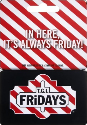 TGI Friday Gift Vouchers