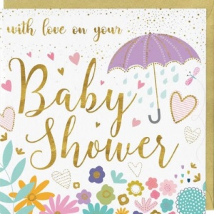 With Love Baby Shower Card