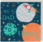 To The Best Dad In The Universe Greeting Card