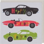 Sports Cars Happy Birthday To You Greetings Card